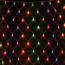 Гирлянда светодиодная 120 LED сетка 1.5x1.5 м микс - прозрачный провод