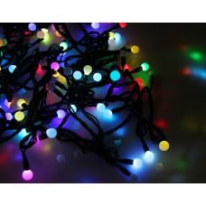 Гирлянда светодиодная Шарик маленький 100 LED - черный провод