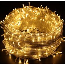 Гирлянда светодиодная 500 LED белая теплая - прозрачный провод