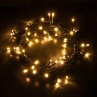 Гирлянда светодиодная 100 LED белая теплая - черный провод