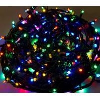 Гирлянда светодиодная 100 LED микс - черный провод