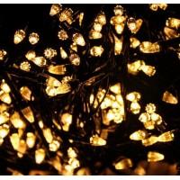 Гирлянда светодиодная Карандаш 100 LED белая теплая - черный провод
