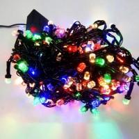 Гирлянда светодиодная Кристалл 200 LED микс - черный провод