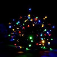 Гирлянда светодиодная Линза 100 LED микс - черный провод