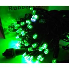 Гирлянда светодиодная уличная 10 м 100 LED зеленая - черный провод