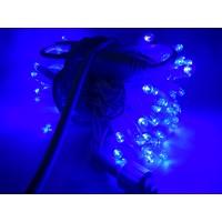 Гирлянда светодиодная уличная 10 м 100 LED синяя - белый провод