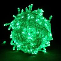 Гирлянда светодиодная 200 LED зеленая - прозрачный провод
