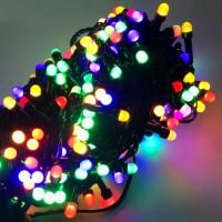 Гирлянда светодиодная Матовая большая 200 LED микс - черный провод