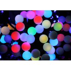 Гирлянда светодиодная Шарик большой 100 LED - черный провод