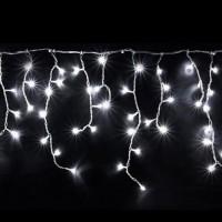 Гирлянда светодиодная уличная Бахрома 5 м 120 LED белая - белый провод