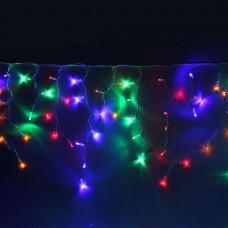 Гирлянда светодиодная сосулька 50 см длина 3 м 120 LED микс - прозрачный провод