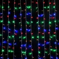 Гирлянда светодиодная Штора 240 LED 2x2 м микс - прозрачный провод