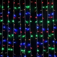 Гирлянда светодиодная Водопад 240 LED 2x2 м микс - прозрачный провод