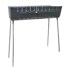 Мангал-чемодан на 12 шампуров 3 мм